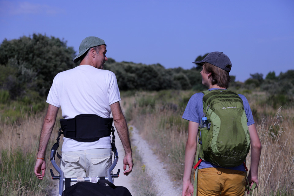 Father and Son Walk the Camino-image