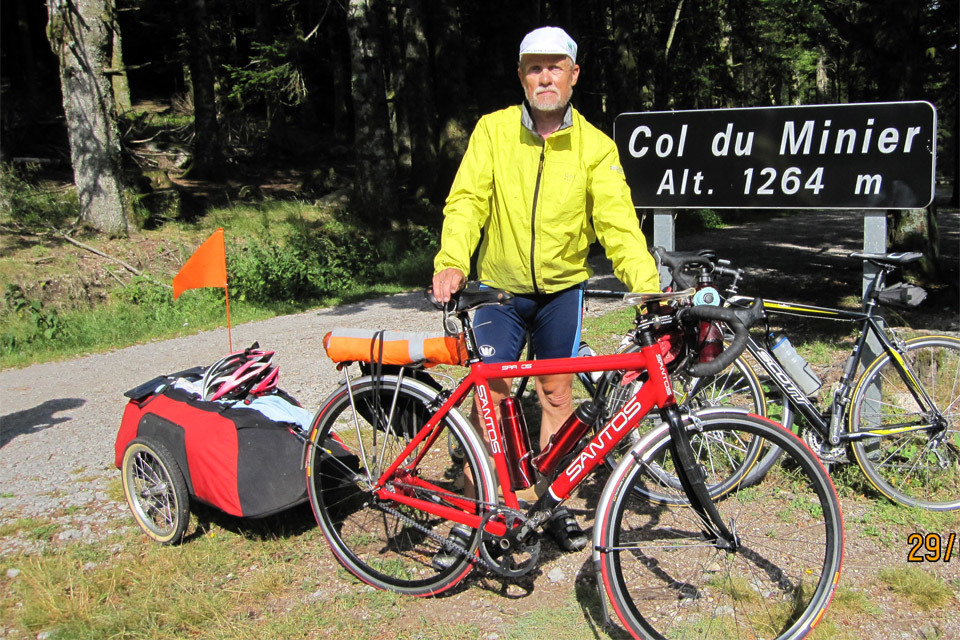 The Hundred Cols Tour with a Bicycle Trailer
