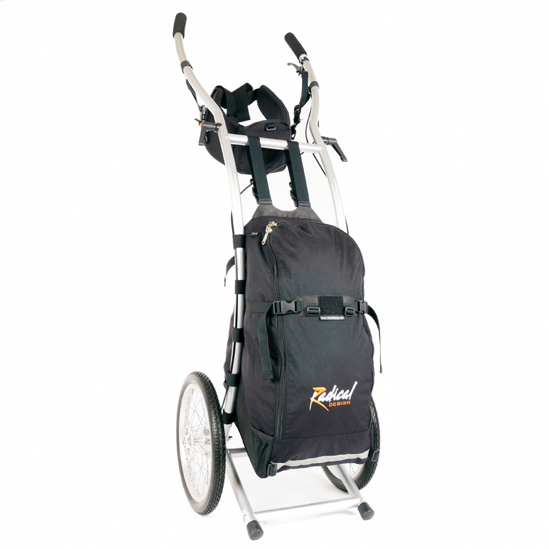 Wheelie V Traveller HD walking trailer braked