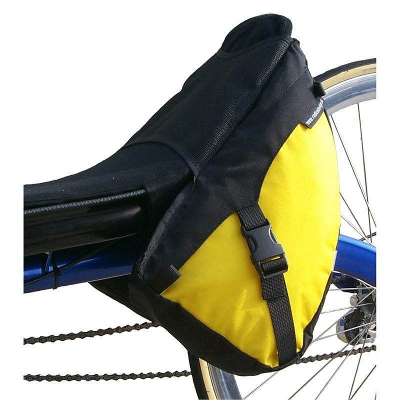 Solo Racer Narrow Recumbent Bag On Bike